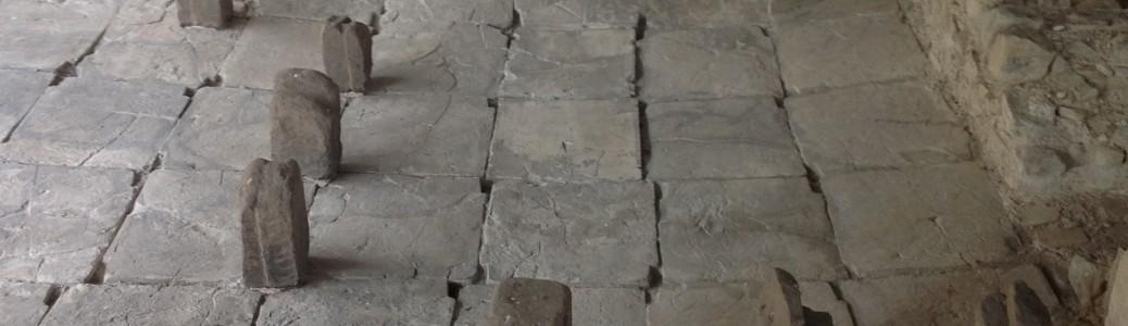 Laconicum con pilastri in mattone